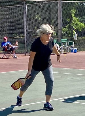 A group of pIckleball players is working to resurface the courts at the J.L. Suttle tennis complex in Shelby.