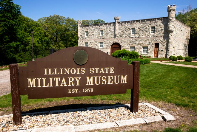 Museo Militar del Estado de Illinois en Springfield, Illinois, viernes 7 de mayo de 2021. El museo exhibe exhibiciones que representan las luchas de los residentes de Illinois, que se remontan a la Guerra de 1812.