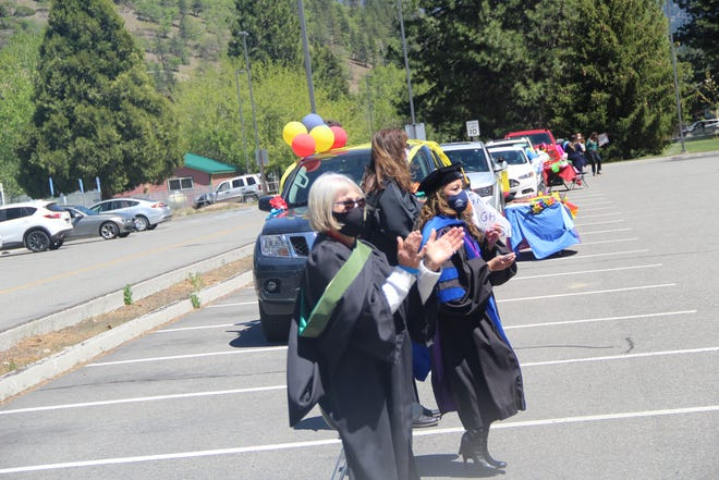 COS staff and administrators during Friday's Drive Through Graduation Celebration.