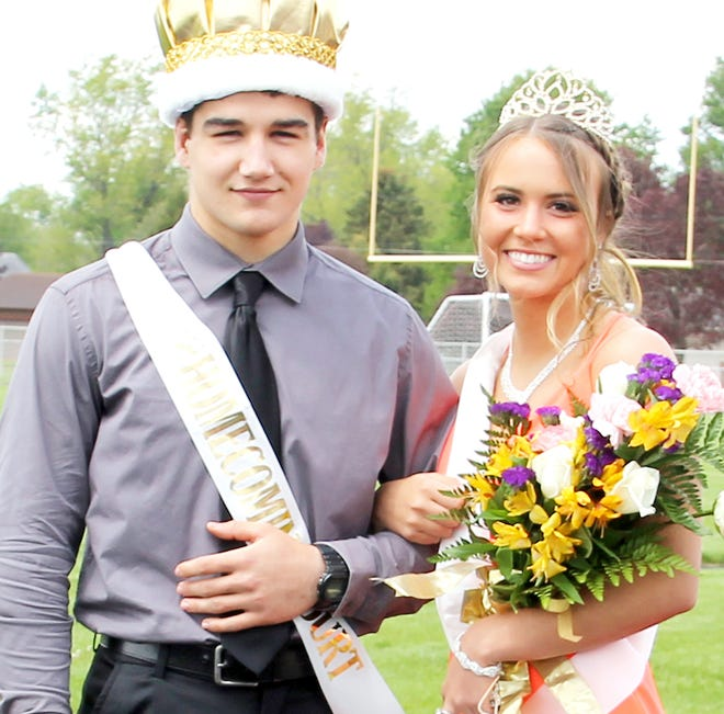 Craig Tappenden and Madison Ratkowski, seniors at Bronson High School, were crowned homecoming king and queen on Friday.