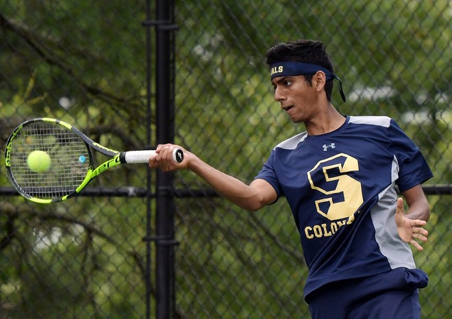 At second singles, Aryan Kale is Shrewsbury's lone returning starter from its 2019 boys' tennis team.