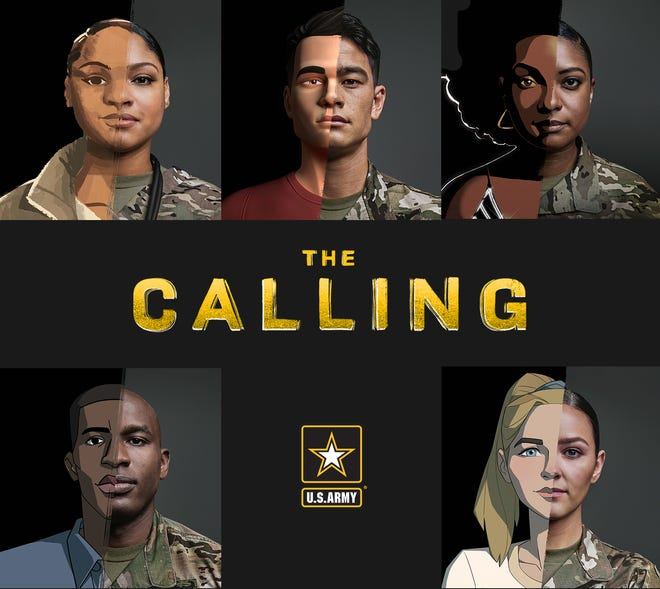 """The story of 1st Lt. David Toguchi is one of five featured in the new Army animated series """"The Calling."""""""