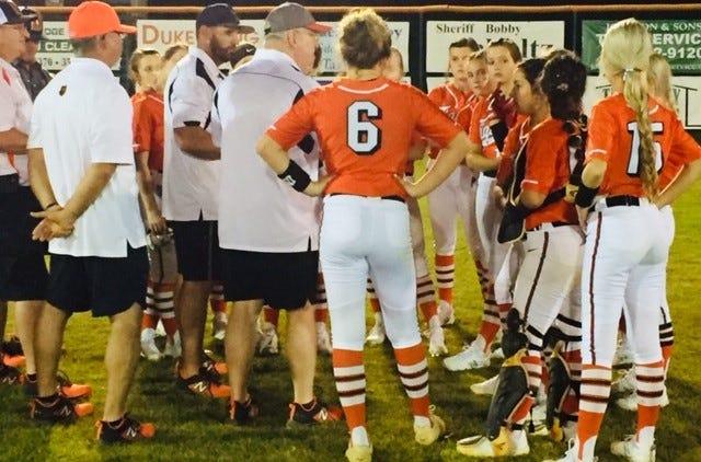 Trenton, Dixie County meet again on softball field.