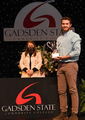 Noah Grady of Altoona receives the Allen-Ray Award at Gadsden State Community College's Honors Day.