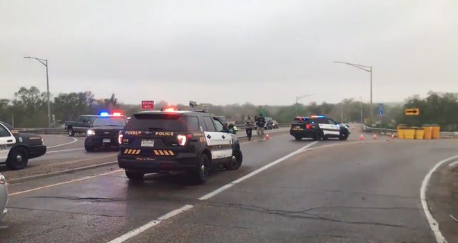Pueblo Police responded to a motorcycle accident on Highway 50 bypass westbound from Bonforte Boulevard early Monday, May 10, 2021. Upon arriving at the scene, police say they found a man dead from an apparent gunshot wound. The death is being investigated as a homicide.