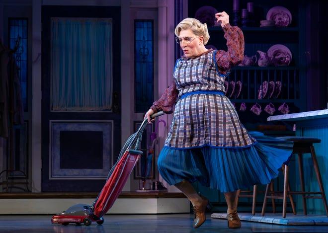 "Rob McClure (Daniel Hillard as Euphegenia Doubtfire) in ""Mrs. Doubtfire"" on Broadway."