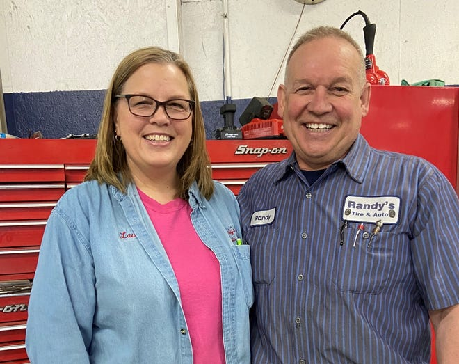 Laurie and Randy Scheffler are the owners of Randy's Tire & Auto in Bucyrus.
