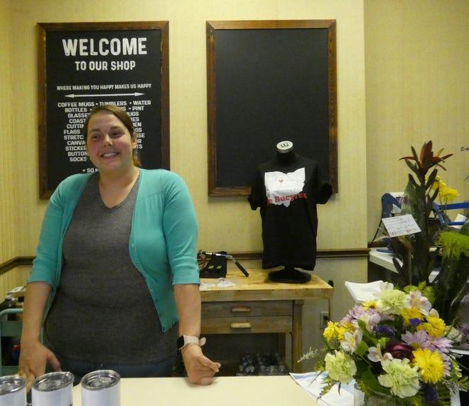 Rachel Striker owns Print Happy, a custom printing and gift shop at 106 E. Warren St.