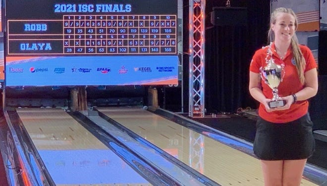 Katie Robb, a 2018 Kingsway Regional High School graduate, won a national title in bowling last weekend. She's a junior at Delaware State University.