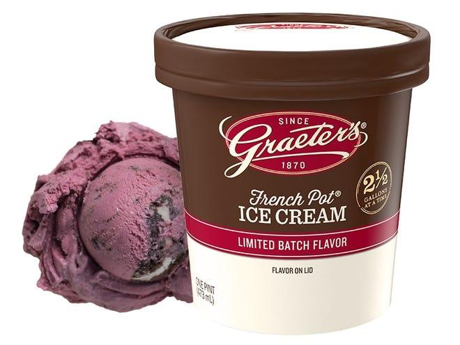 Graeter's Ice Cream's first bonus flavor of the year is Black Raspberry Cookies & Cream.