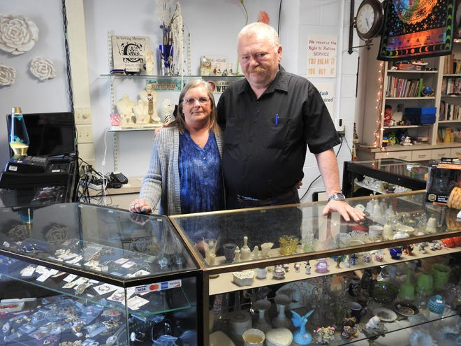 Renee and Dave Stone recently opened The Stone House Thrifts with a lot of items they've collected from auctions and yard sales over the years. They said public support has been strong so far.