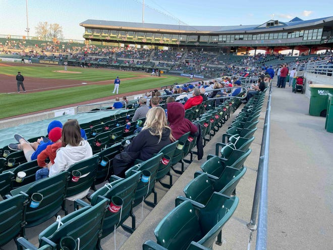 """Randy Wehofer, vice president and assistant general manager of the Iowa Cubs, sees Marquee Network TV exposure as advertising for Cubs games. """"I think to see this field and this facility on television, (people)will say, 'That's not anything like what I expected that to be. Maybe we should go try that out.'"""""""
