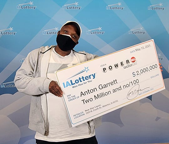 Anton Garrett, 48,claimed $2,000,021 from the lottery on Monday.