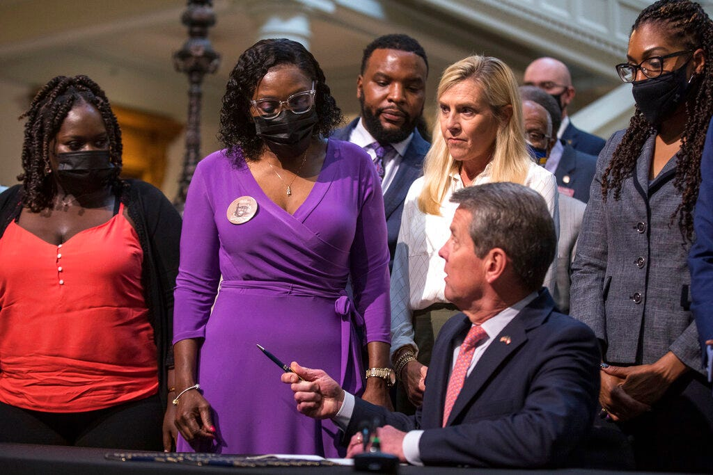 Georgia Gov. Kemp signs repeal of 1863 citizen's arrest law 1