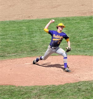 Bloom-Carroll junior CJ Carmichael gets set to deliver a pitch during a non-conference game against DeSales. The Bulldogs (21-2) earned the No. 1 seed during Sunday's Division II Central District tournament draw.
