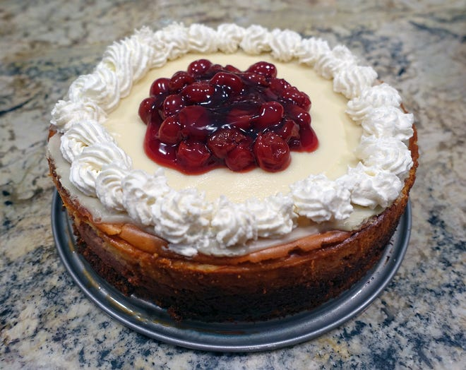 Cheery Cherry Cheesecake was a Wisconsin State Fair winner in 2016. It features cherry concentrate, chopped cherries and cherry pie filling.