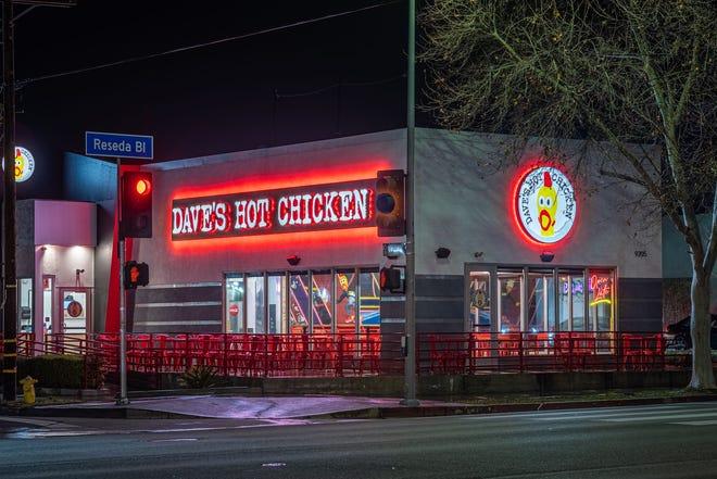 A Dave's Hot Chicken located in Northride, CA.