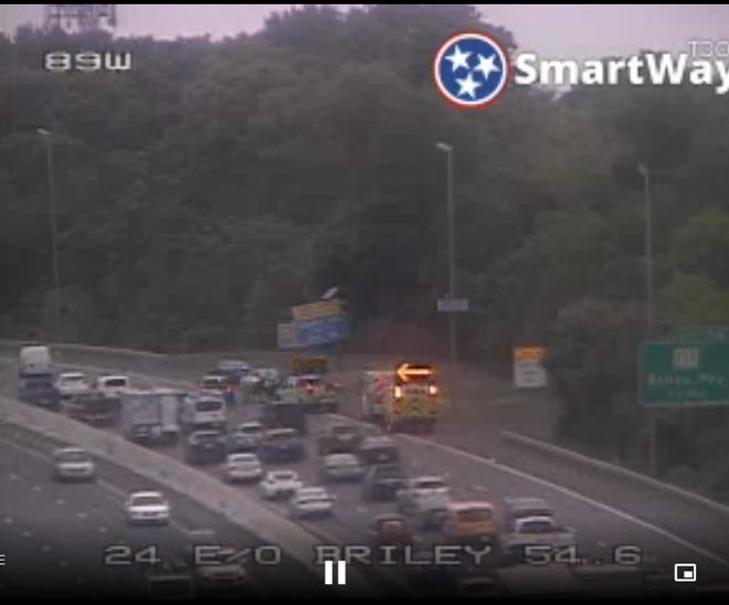 Metro police are investigating a shooting on I-24 near Harding Place in Nashville.