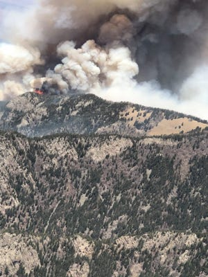 Three Rivers Fire burns in the Lincoln National Forest May 8.