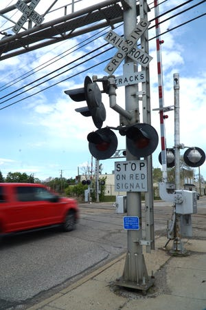 The crossing gates of the rail road crossing on Main east of Plymouth are often down and cause motorists delays.