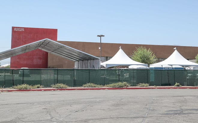 The building at 82025 Hwy 111 is being converted into a COVID-19 testing site, May 10, 2021.