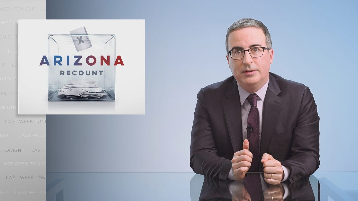 'Arizona is playing a dangerous game': John Oliver gets serious about the election audit