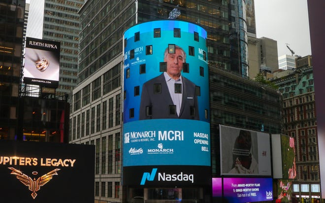 John Farahi, CEO and co-chairman of Atlantis parent company Monarch Casino and Resort, rang the NASDAQ bell in a virtual ceremony on Monday, May 10.