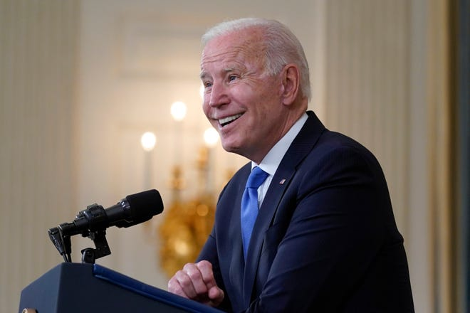 President Joe Biden on May 5, 2021, in Washington, D.C.