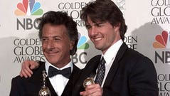 "Tom Cruise (right, with Dustin Hoffman) won best actor for ""Jerry Maguire"" at the 1997 Golden Globes – a trophy that's been unceremoniously returned to the Hollywood Foreign Press Association."