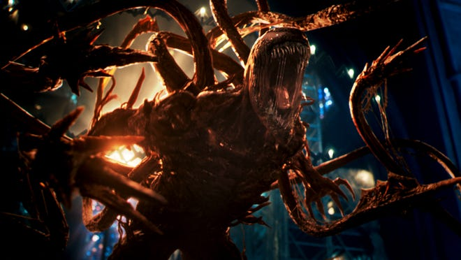 """Woody Harrelson's Cletus Kasady becomes the monstrous Carnage in the sequel """"Venom: Let There Be Carnage."""""""