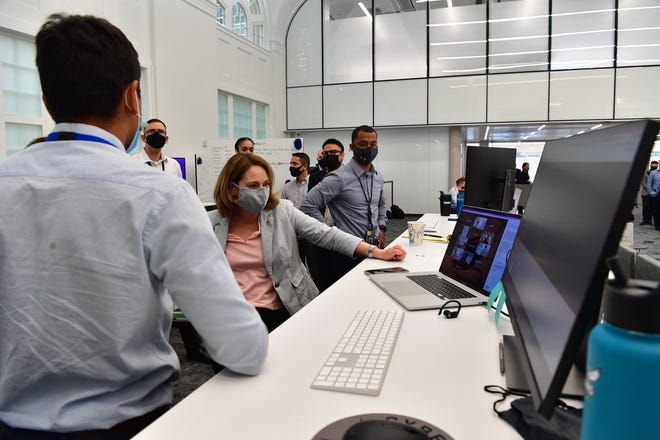 U.S. Deputy Secretary of Defense Kathleen Hicks on Tuesday toured several Austin sites for the Army Futures Command unit, which is based in Central Texas.