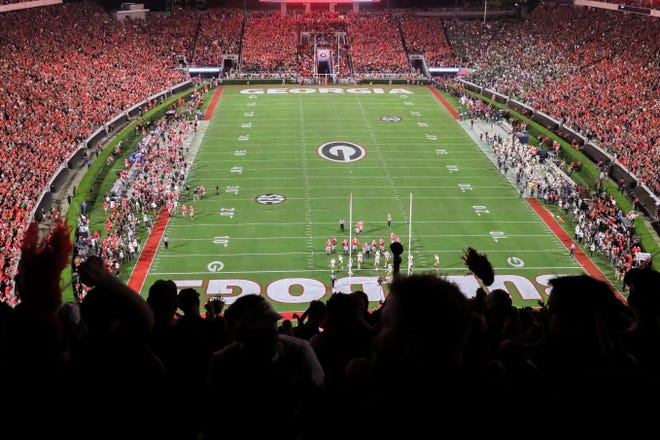 Sanford Stadium in the first half of a football game between Georgia and Notre Dame in Athens, Ga., on Saturday, Sept. 21, 2019. [Photo/Joseph Sisson - Contributor, Athens Banner-Herald]