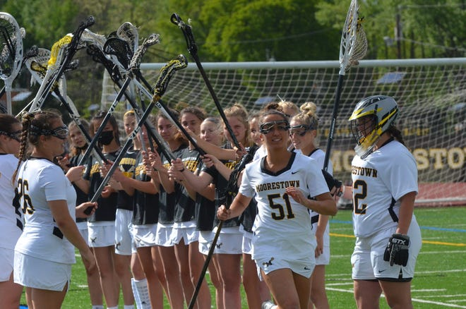 Moorestown senior Margaret Lawler is introduced before a game