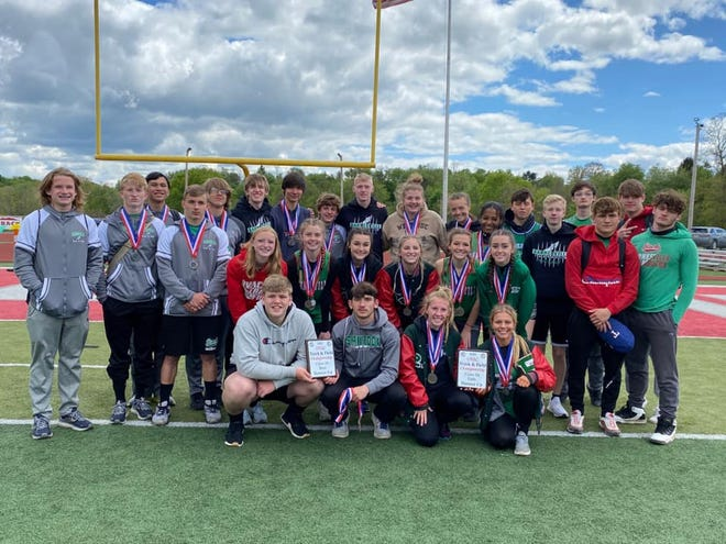 Both the girls' and boys' track teams at Barnesville High School finished as OVAC Class AAA runners-up recently.