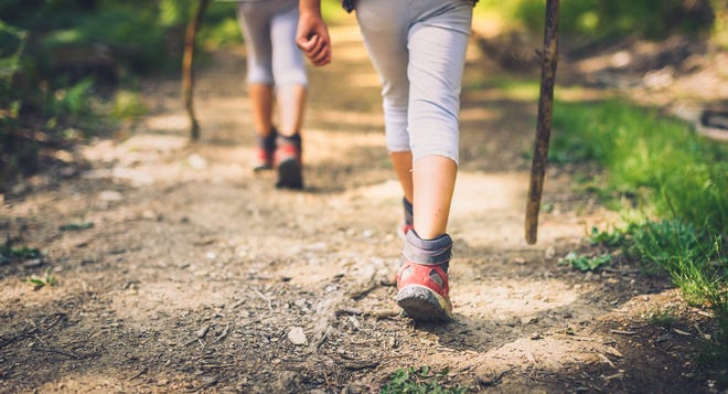 Not only does hiking get kids outdoors, it helps with building stronger muscles and bones, improves their sense of balance, and is a natural stress reliever