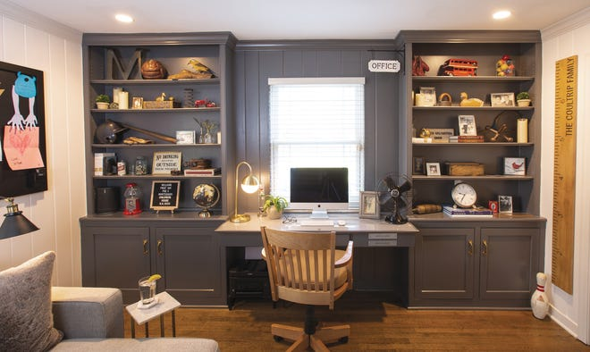 During the shutdown last spring, when Coultrip's travels were temporarily curtailed, his home office took on greater importance. The room now doubles as a guest room with the pull-out sofa that's been incorporated.