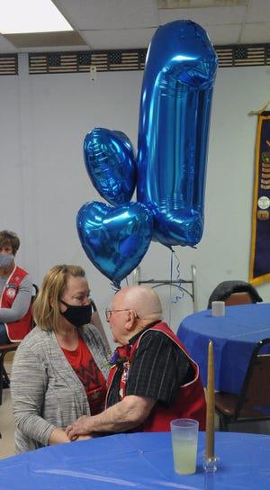 Kelley Busson, a longtime neighbor of Jim Bradenburg, says she has adopted him as her grandpa.