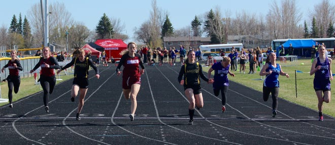 Track and field teams from Devils Lake, Langdon/Edmore/Munich, and North Star competed at the Ray McDaniel Memorial on May 10 at Devils Lake High School.