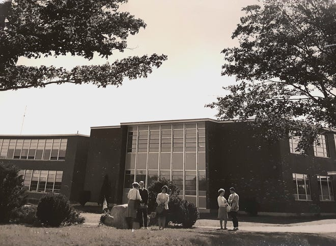 The Somersworth High School building circa 1958. There have been some changes to the building but the exterior remains in many ways the same as when it was first built in 1956.