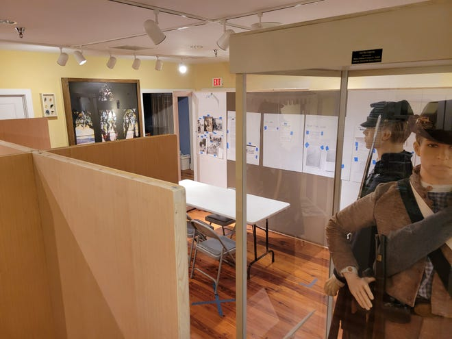 The interior of the Mandarin Historical Museum shows the proposed new exhibits on the Black community being laid out.