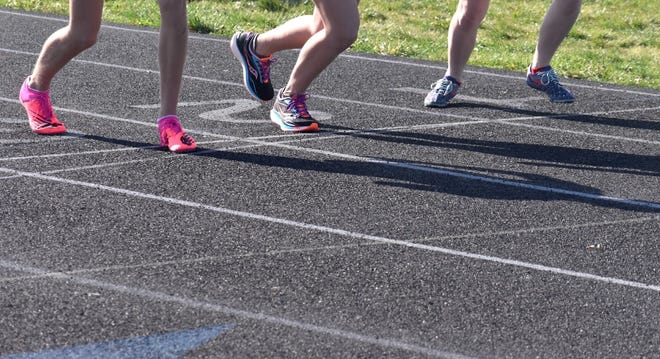 Shoes at the starting line