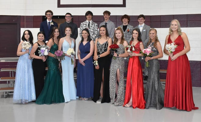 The Class of 2022 poses at Cambridge High School's promenade on Saturday, May 8. Because of rain, the event was moved from the new band shell in College Square Park to Cambridge Elementary School's gym. The high school itself was the site of prom.