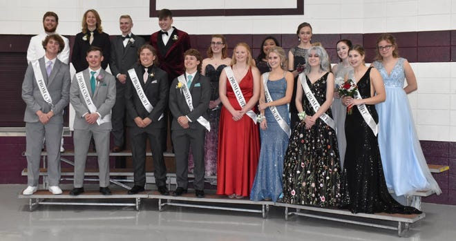 Cambridge High School's Class of 2021 gathers for promenade on Saturday, May 8, in the Cambridge Elementary School gym. During promenade, juniors and seniors display their prom clothes to family and friends before going off to the event.