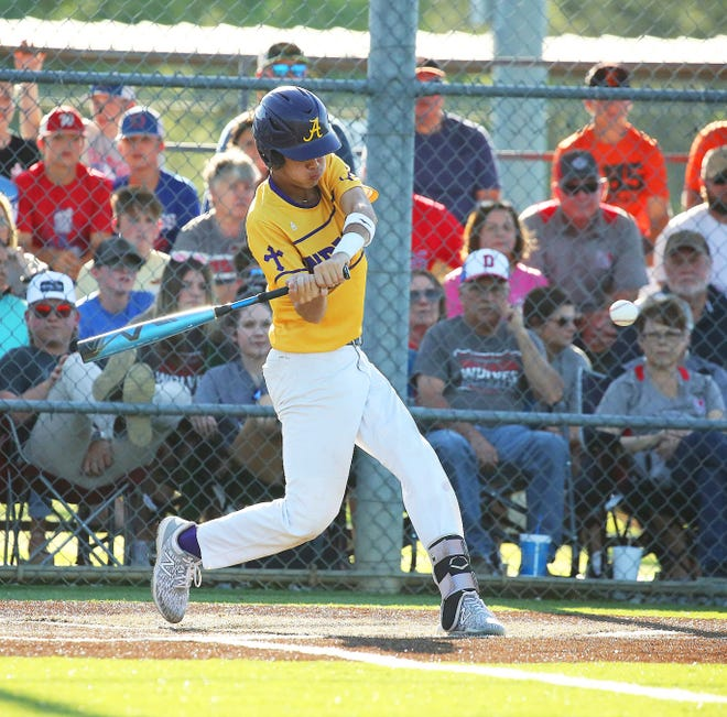 Anacoco's Reid Rodriguez had a double, a homer and four RBIs as the Indians blasted the Weston Wolves in the Class B quarterfinals on Saturday.