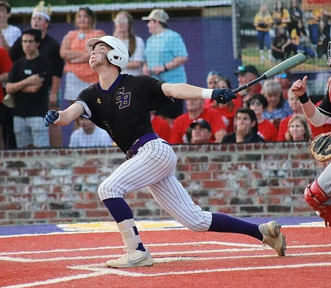 Britton Coleman had a triple and an RBI, while also throwing six solid innings to lead South Beauregard to a 7-5 win in Game 2 over Brusly, forcing a third game. The Panthers won that game, 7-4.