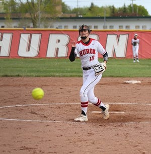 Gracie Brinkerhoff was one of four New Boston Huron players to make the All-Huron League softball first team.