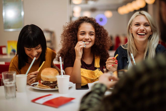 Food intake data shows teen girls consume a high intake of sweetened beverages, foods with added sugar, foods containing solid fats (think saturated fat), and fast food options.