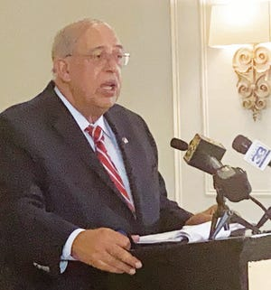 Retired Lt. Gen. Russel Honore spoke Monday at the Press Club of Baton Rouge.