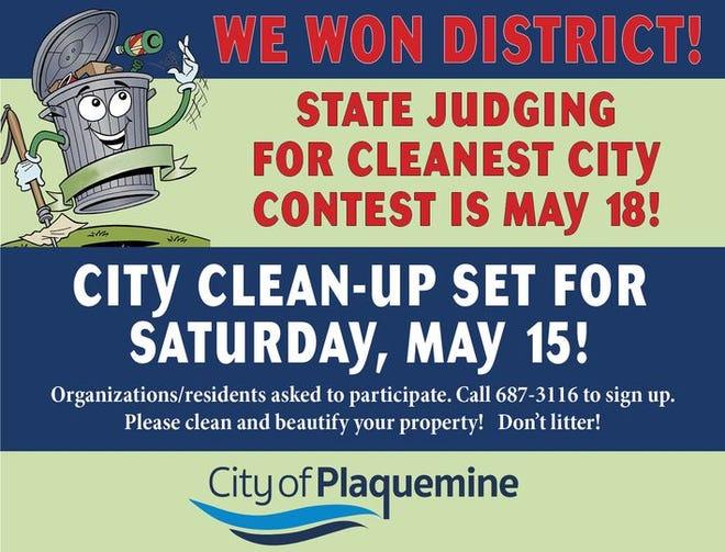 Plaquemine won the district Cleanest City title.
