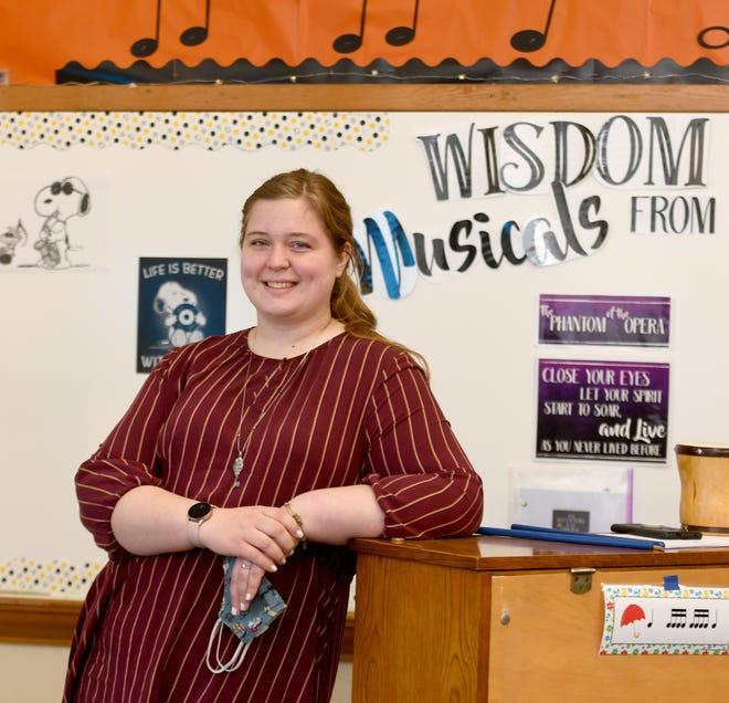 Brenda Kulmala, a music teacher and tutor at Marlboro Elementary School, is The Alliance Review Stark Federal Credit Union Teacher of the Month for May. Kulmala was photographed May 11 in her classroom.
